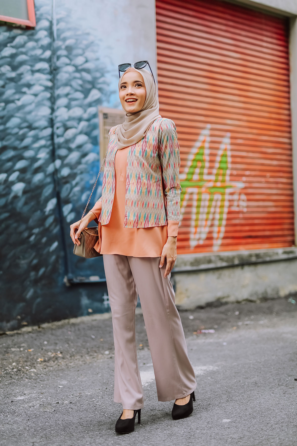 AUREL BATIK BLOUSE – PEACH