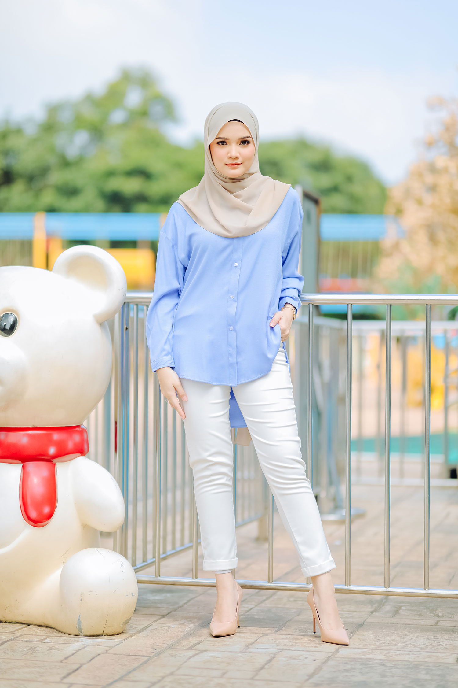NELLY BATWING SHIRT – MAYA BLUE