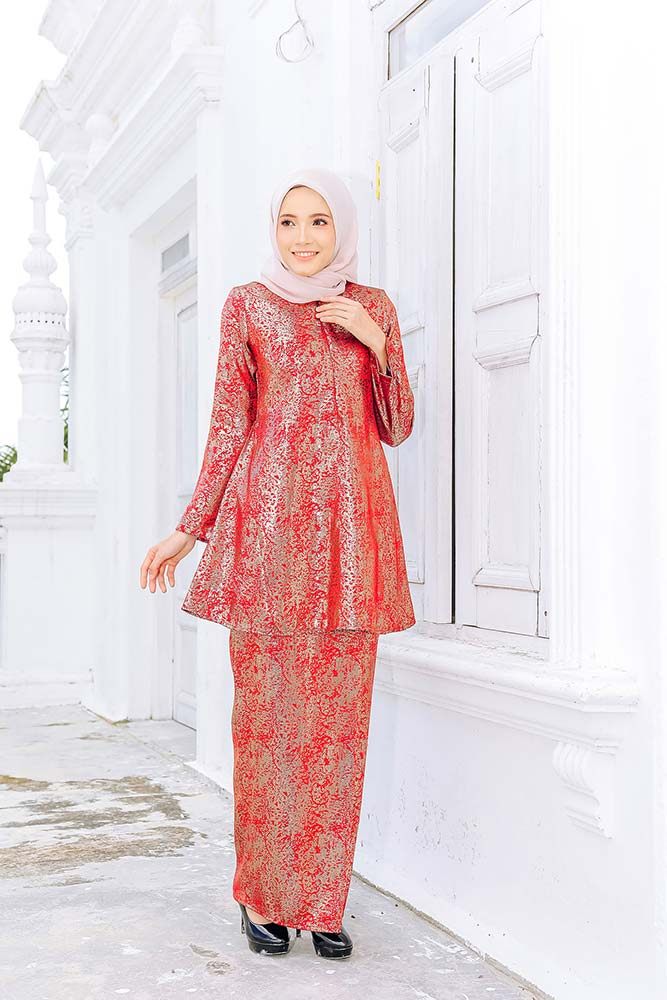 SURYA KURUNG – RUSTY RED (BUY 1 FREE 1)