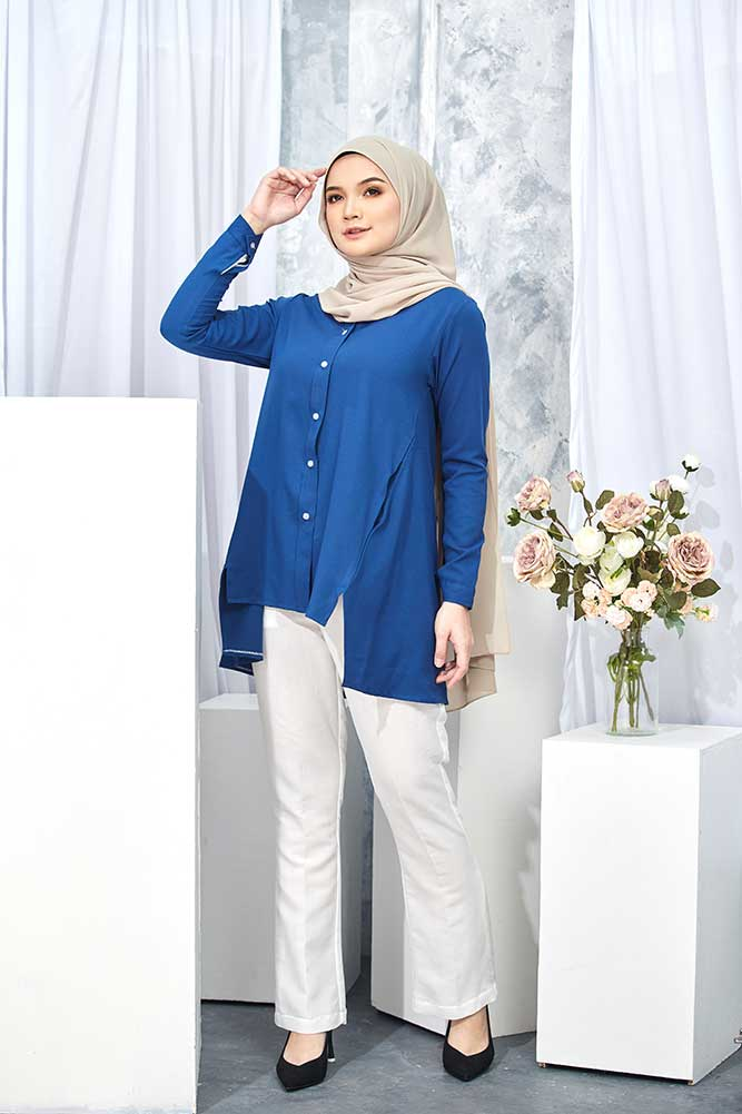 HELDA BLOUSE – MIDNIGHT BLUE