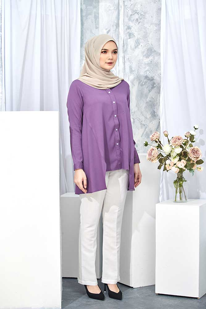 HELDA BLOUSE – PURPLE (FLASH SALE)