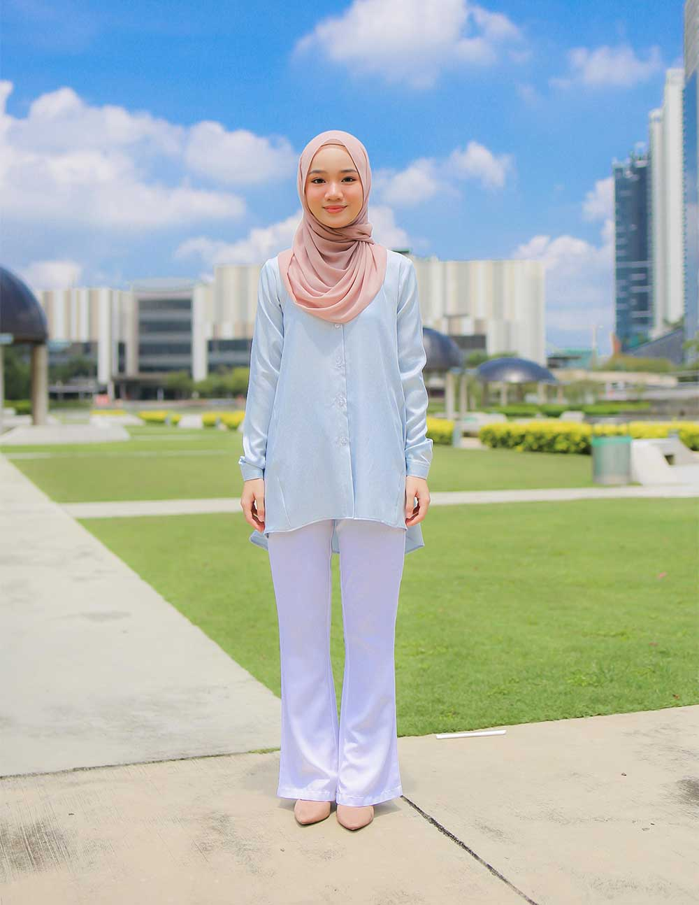 MARY BLOUSE – SOFT BLUE