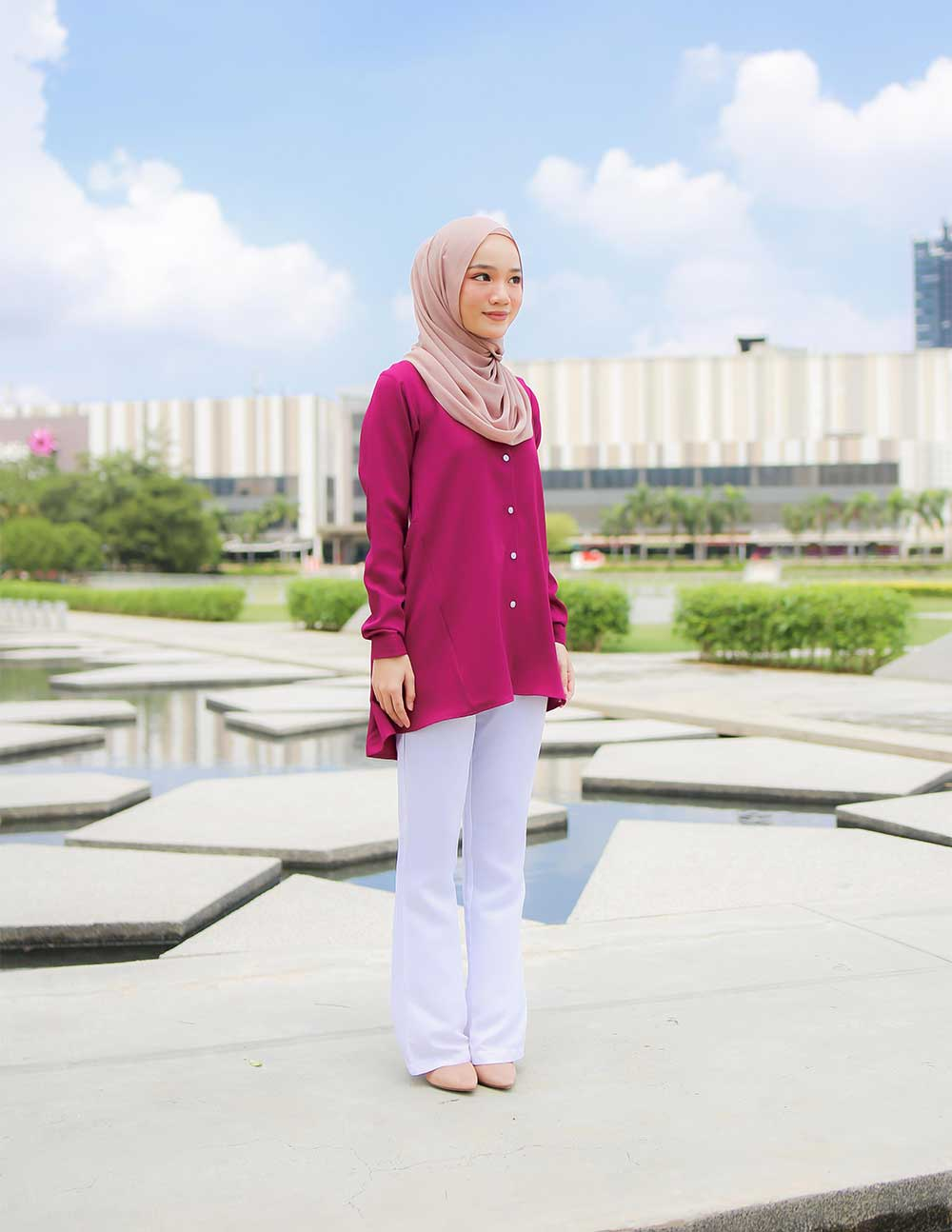 MARY BLOUSE – MAGENTA (PRE ORDER W. EARLY BIRD PRICE)