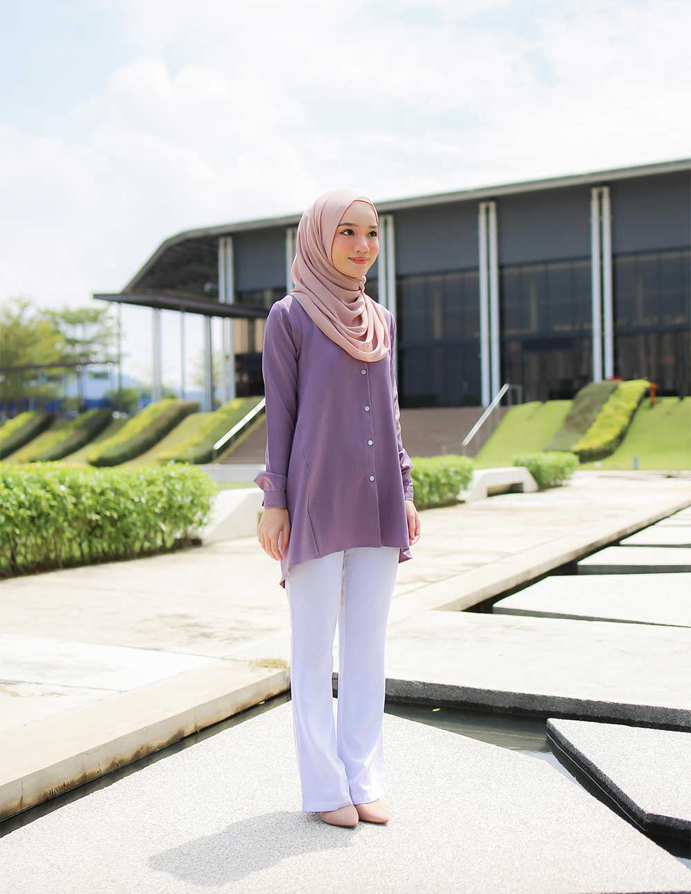 MARY BLOUSE – DUSTY PURPLE(PRE ORDER W. EARLY BIRD PRICE)