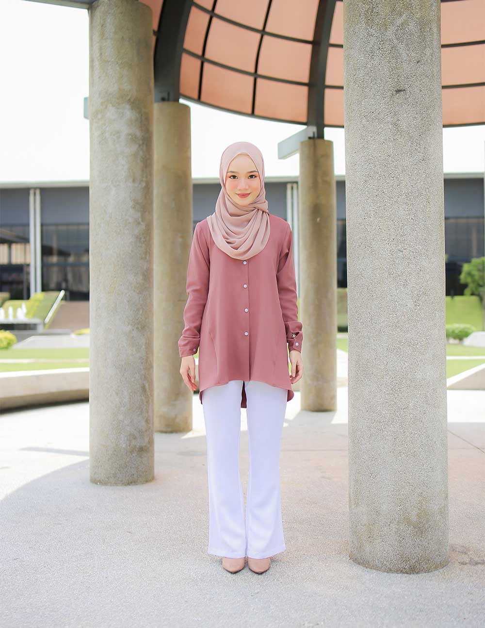 MARY BLOUSE – ROSEWOOD (PRE ORDER W. EARLY BIRD PRICE)