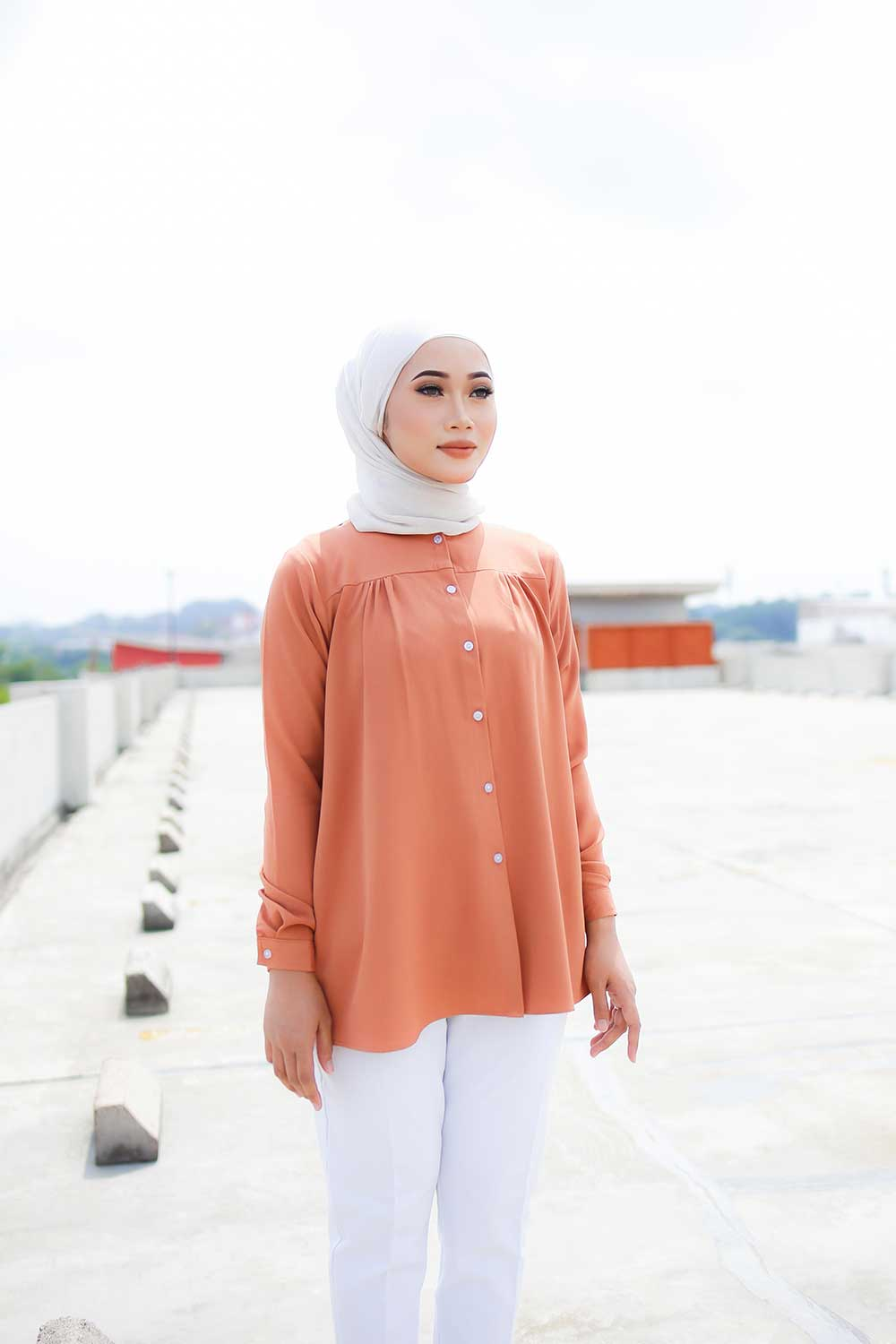 IVY BLOUSE – DARK SALMON