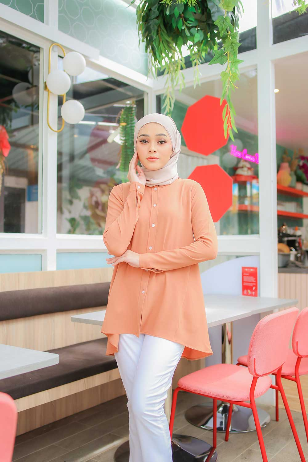 TEENA BLOUSE – DARK SALMON