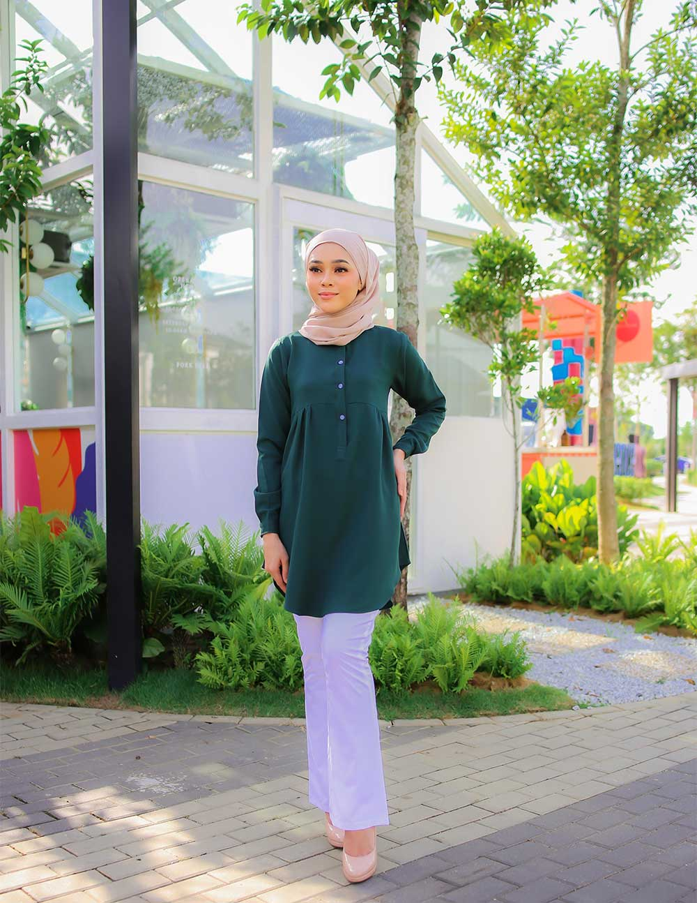 AUFA BLOUSE – EMERALD GREEN