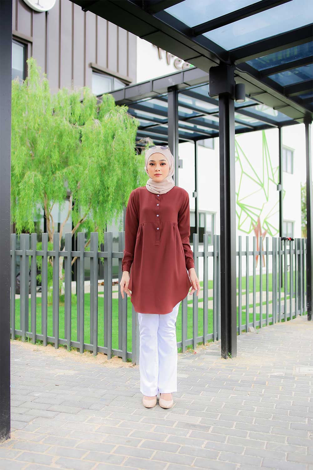 AUFA BLOUSE – REDWOOD