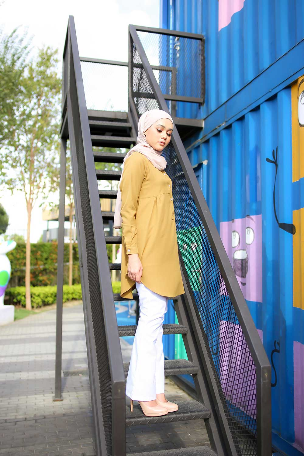 AUFA BLOUSE – GREENISH YELLOW