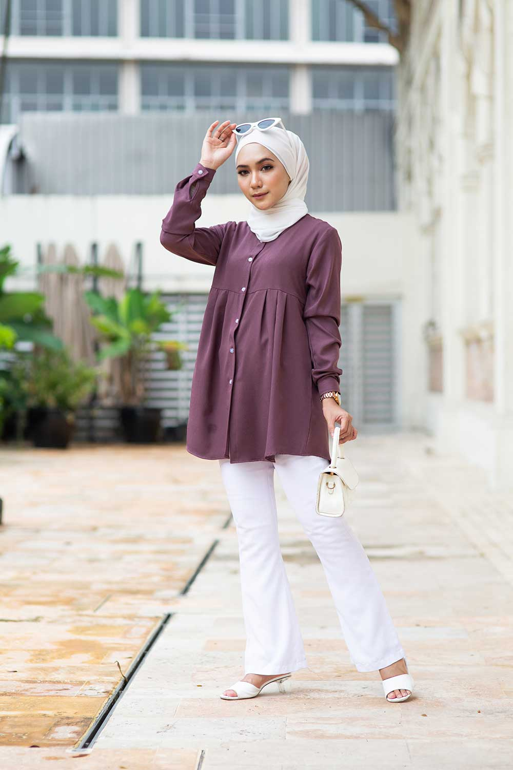 ERNA BLOUSE – DARK BERRY