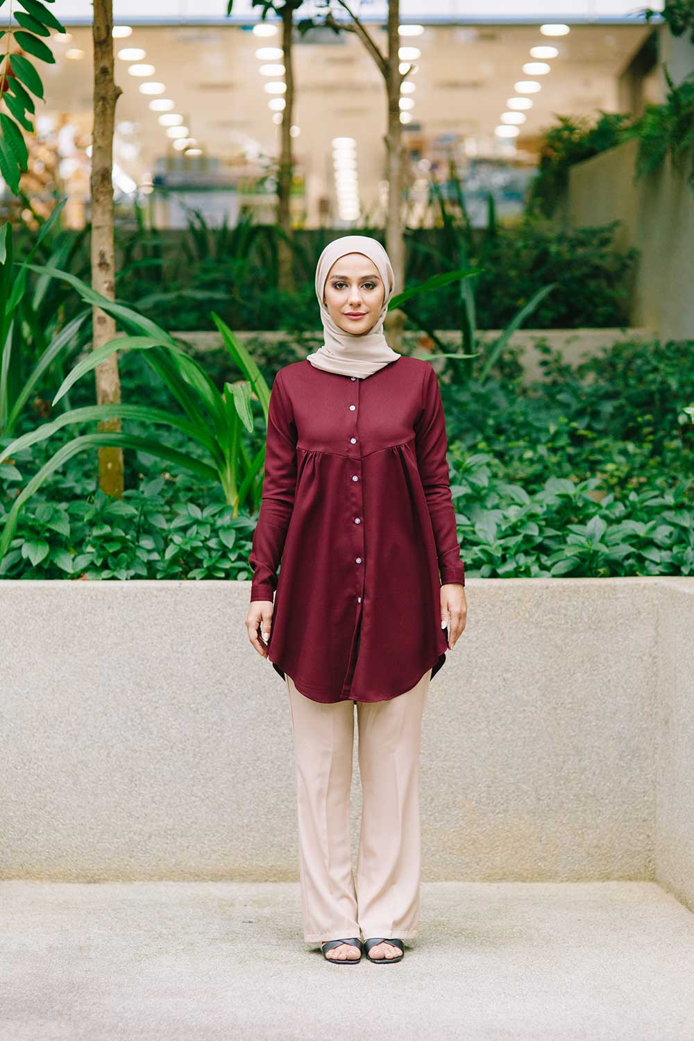 YARRA BLOUSE – BURGUNDY