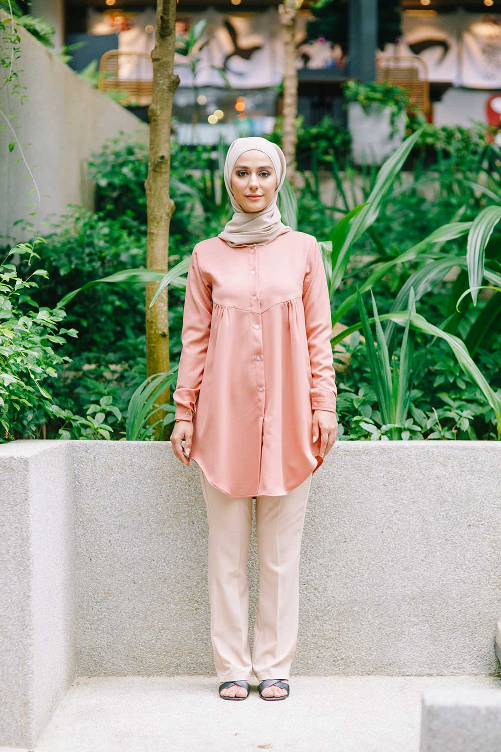 YARRA BLOUSE – CORAL
