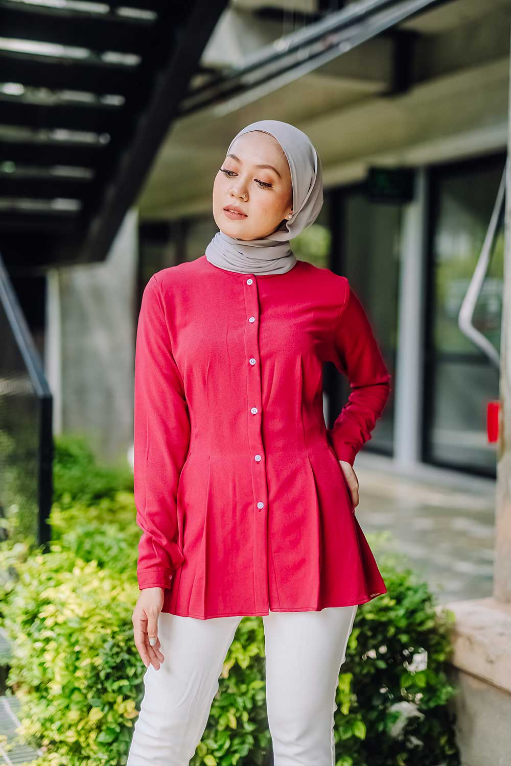 NOVA BLOUSE – RUBY RED