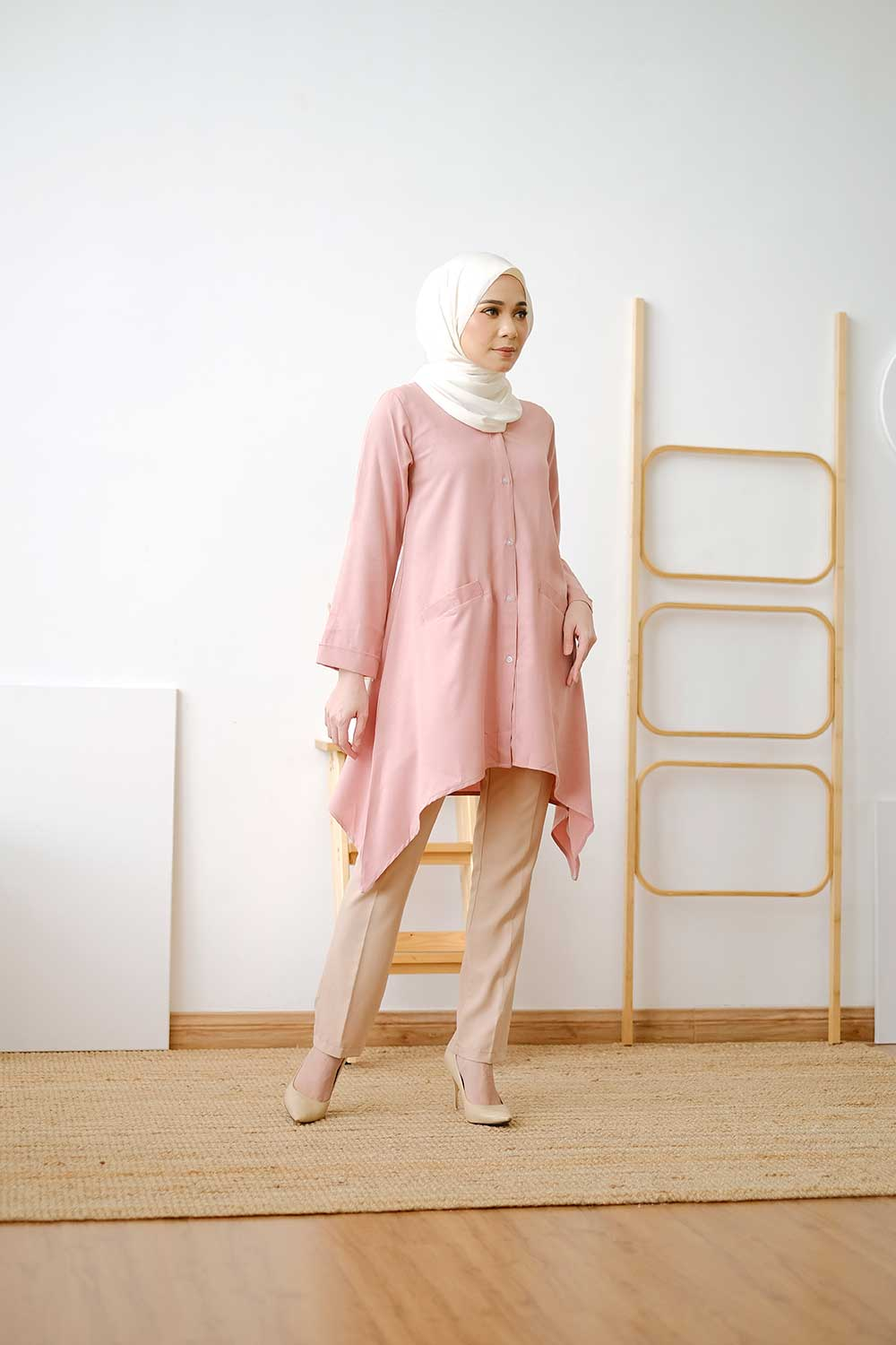 VEKSI BLOUSE -DUSTY PINK